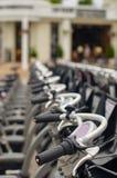Mosca, affitto pubblico della bicicletta Immagini Stock