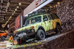 MOSCA - AGOSTO 2016: La raccolta di VAZ-2329 LADA 4x4 ha presentato a MIAS Moscow International Automobile Salon il 20 agosto 201 Immagini Stock Libere da Diritti