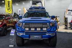 MOSCA - AGOSTO 2016: La tundra 4x4 di Toyota ha presentato a MIAS Moscow International Automobile Salon il 20 agosto 2016 a Mosca Fotografie Stock