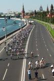 sedicesimi Quadrato rosso di giro della bici di carità Fotografie Stock
