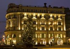 Mosca, albero di Natale Fotografia Stock Libera da Diritti