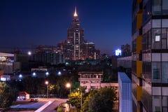 Mosca alla notte immagini stock