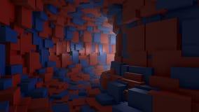 Mosca através de um túnel infinito ilustração do vetor