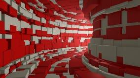 Mosca através de um túnel infinito ilustração stock