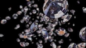 Mosca-attraverso i diamanti con l'alfa canale, avvolto stock footage