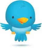 Mosca azul pequena do pássaro ilustração do vetor