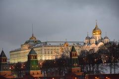mosca camminando all'inverno di Mosca fotografia stock