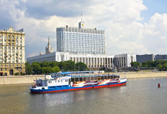 Mosca, casa bianca Fotografie Stock