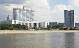 Mosca, casa bianca Immagini Stock