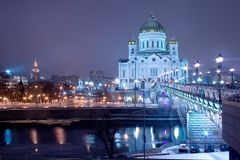 Mosca, cattedrale immagini stock
