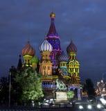 Mosca, cattedrale dei basilici del san Fotografia Stock Libera da Diritti