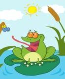 Mosca de cogida de la rana ilustración del vector