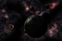Mosca de Sputnik en el cosmos libre illustration