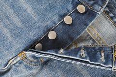 Mosca dei jeans con la chiusura del bottone Immagine Stock Libera da Diritti