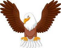 Mosca del águila de la historieta aislada en el fondo blanco Imágenes de archivo libres de regalías