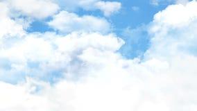 mosca del aire de la nube 4K metrajes