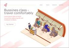 Mosca del Business class dell'iscrizione dell'insegna confortevolmente illustrazione di stock