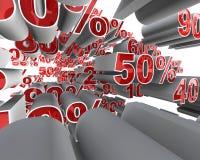 Mosca del porcentaje a través Fotografía de archivo