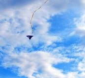 Mosca dell'aquilone in un cielo Fotografia Stock