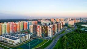 MOSCA, distretto variopinto dell'appartamento Fotografia Stock