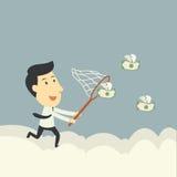 Mosca do dinheiro da captura Fotos de Stock