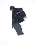 Mosca do Snowboarder isolada fotografia de stock royalty free