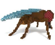mosca do voxel 3d Fotografia de Stock