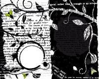 Mosca e testo Grunge Fotografia Stock Libera da Diritti