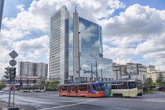 Mosca, Federazione Russa - 10 settembre 2017: Vista della via di Fotografia Stock Libera da Diritti