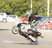 Mosca, festival di motosport estremo Fotografia Stock