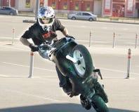 Mosca, festival di motosport estremo Fotografia Stock Libera da Diritti