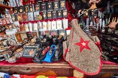 Mosca - 22 04 2017: Il mercato al Cremlino di Izmailovsky, Mosca Fotografia Stock Libera da Diritti