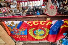 Mosca - 22 04 2017: Il mercato al Cremlino di Izmailovsky, Mosca Fotografie Stock Libere da Diritti