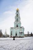mosca Il monastero della trinità santa Il campanile Immagine Stock