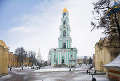 mosca Il monastero della trinità santa Il campanile Fotografia Stock