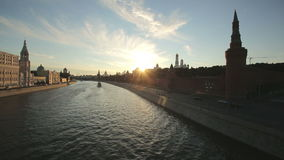 Mosca kremlin al tramonto video d archivio