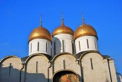 Mosca Kremlin Foto a colori Cattedrale di Dormition Fotografia Stock Libera da Diritti
