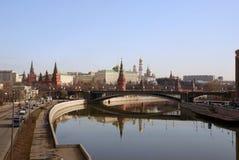 Mosca Kremlin in mattina della sorgente Fotografie Stock Libere da Diritti