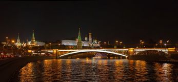 Mosca Kremlin nella notte Immagine Stock Libera da Diritti