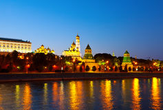 Mosca Kremlin nella notte di estate Immagine Stock Libera da Diritti