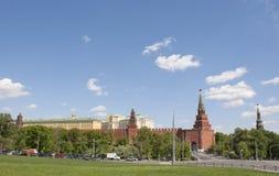Mosca, Kremlin, torretta di Borovitskaya Fotografia Stock Libera da Diritti