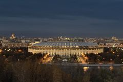 mosca La grande arena di sport Luzhniki Immagine Stock