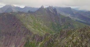 Mosca a las montañas 4K de Noruega almacen de video