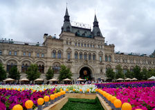 MOSCA - 21 LUGLIO: Festival del fiore in quadrato rosso in onore del Immagine Stock Libera da Diritti