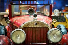 MOSCA - 9 MARZO 2018: Modello 314 di Cadillac 1926 camion dei vigili del fuoco alla e Fotografie Stock Libere da Diritti