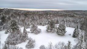Mosca nevada del paisaje encima Imagen de archivo