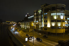 Mosca night02 Fotografie Stock