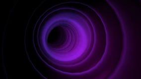 Mosca-por el túnel abstracto del sonido de la animación