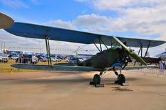 MOSCA, RUSSIA - AGOSTO 2015: biplano sovietico per tutti gli usi Po-2 U Immagine Stock