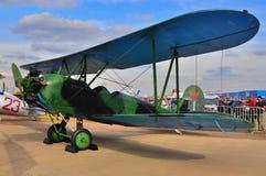 MOSCA, RUSSIA - AGOSTO 2015: biplano sovietico per tutti gli usi Po-2 U Fotografia Stock